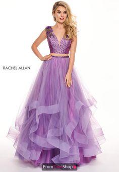 9d60ff8a18a Rachel Allan Two Piece Floral A-Line Dress 6412