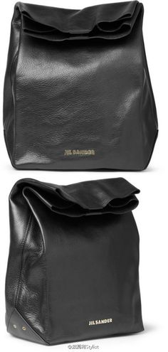 i've never seen a leather lunch bag! so rad!  jil sander fall 2012 lunch #bags    Jil Sander is the best...welcome back-nlt