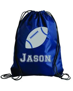 Items Similar To Personalized Football Design Kids Drawstring Bags Gym Backpacks Swimbag Sports Bag On Etsy