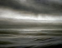 "Ran Ortner ""Open Water No. 17″, Oil on Canvas, 84 x 108″, 2009."