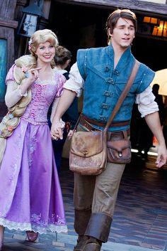 Rapunzel and Flynn | Flickr Look how Flynn has that strut down!