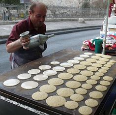 Making Qatayef (pancakes) for Ramadan. Making Qatayef (pancakes) for Ramadan. Arabic Sweets, Arabic Food, Jordanian Food, Ramadan Prayer, Cookie Do, Lebanese Recipes, Ramadan Decorations, Cookies Policy, Bread Rolls