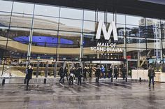 Mall of Scandinavia Commercial Complex, Mall Design, Shopping Mall, Stockholm, Facade, Entrance, Street View, Doors, Building
