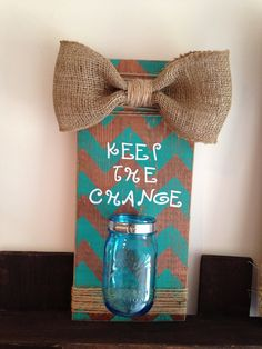 Keep The Change Barn wood sign by GurleyGirlFrames on Etsy