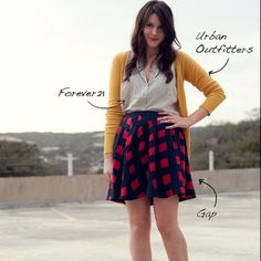 I own this skirt!!!! Now I have to try this outfit...