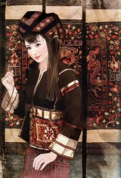 china ethnic  Li Woman  , clothes and accessories