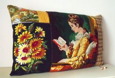 UNIQUE French Needlepoint Tapestry & Antique by Retrocollects £35 https://www.etsy.com/shop/Retrocollects
