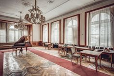 IT worker Thomas Windisch, from Graz in Austria, indulged his passion for photography by traveling across the continent, visiting over 100 abandoned hotels along the way. (Caters News)
