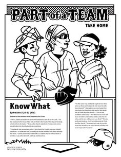 All for One, One for All activity sheet about Ephesians 4