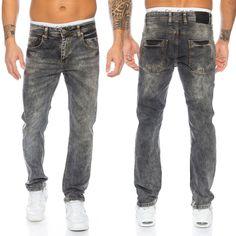 Rock Creek Clubwear Herren Jeans Hose Dunkelgrau Denim Stretch Jeans LL-310 NEU