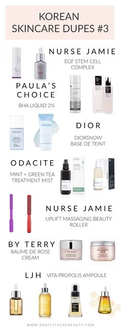 Korean skincare dupes for high end favourites #3