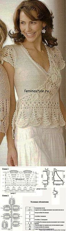 Crochet blouse with the smell.