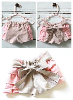 Ruffled baby bloomers, with free pattern and tutorial. Baby bloomer sewing pattern DIy