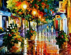 WANDER AFTER THE RAIN - PALETTE KNIFE Oil Painting On Canvas By Leonid Afremov http://afremov.com/WANDER-AFTER-THE-RAIN-PALETTE-KNIFE-Oil-Painting-On-Canvas-By-Leonid-Afremov-Size-24-x30.html?utm_source=s-pinterest&utm_medium=/afremov_usa&utm_campaign=ADD-YOUR