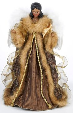 gold-and-brown-angel-tree-topper Ghost Of Christmas Past, Angel Christmas Tree Topper, Christmas Tree Tops, A Christmas Story, Christmas Angels, Christmas Tree Decorations, Christmas Lights, Ornaments Ideas, Christmas Arrangements