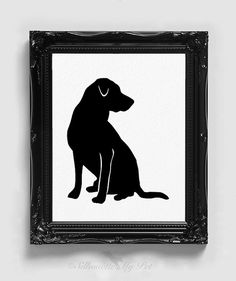 Labrador Retriever Silhouette  Handcut Original by silhouetteMYpet
