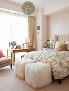 Pink Bedroom Ideas for Adults | Elegant and Chic Bedroom Designs for Women | DesignArtHouse.com - Home ...