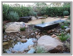Peaceful Landscapes are a Sydney landscaping company offering landscape design and all aspects of landscape construction, including sandstone supply and sandstone stonemason installation services. Modern Australian Garden, Garden Modern, Rain Garden Design, Pond Design, Bush Garden, Gravel Garden, Garden Path, Landscaping Work, Landscaping Company