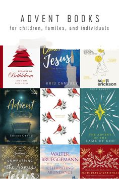 This is the list of Advent books I've been looking for! #advent #adventbooks
