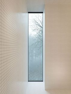 House by WOJRResearch, Architecture, Interiors ©WOJR The Mask House provides a place of refuge and contemplation for one who lost his. Bathroom Windows, Bathroom Layout, Bathroom Interior, Light Bathroom, Open Bathroom, Half Bathrooms, Bathroom Designs, Bathroom Remodeling, Bathroom Faucets
