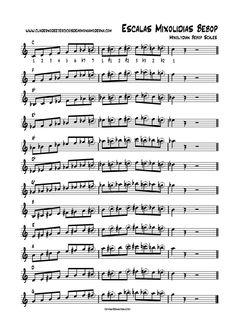 escalas mixolidias bebop (completo) Jazz Sheet Music, Saxophone Sheet Music, Piano Jazz, Blues Guitar Lessons, Music Lessons, Bebop, Trumpet Music, Telecaster Guitar, Jazz Art