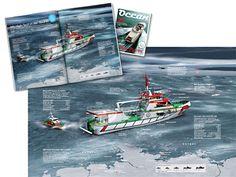 0082 Ocean – Sea Rescue - 3d info graphic # infographic