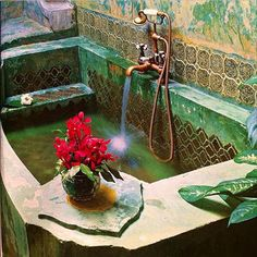 Stunning color and patina! In a bath in the Old Bangkok Inn in Bangkok, Thailand. In Nat Geo Traveler Aug/Sept 2014 edition.  https://instagram.com/p/z3gFgnq36m/