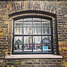 Yellow stock brick window London