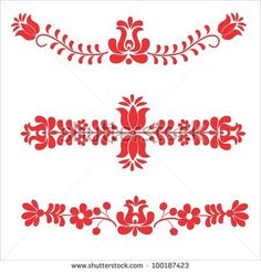 folk embroidery pattern - stock vector