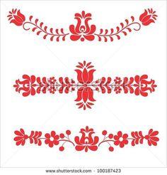 folk embroidery pattern - stock vector