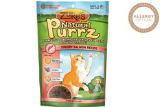 Natural Purrz are the perfect way to keep your kitty companion purring. They're soft, delicious treats packed with USDA chicken or ocean-caught salmon, a whole-food source of omega 3 fish oil. And because they're healthy (and only 2 calories each), you'll feel good treating your cat to them every day. You can both be happy about that. Your kitty will be so grateful they may even trade in knocking things off your coffee table for snuggling. Maybe. Feed nutritious Natural Purrz and Fuel the…