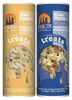Weruva Freeze Dried Grain Free Treats for Dogs and Cats 2 Flavor Variety Bundle 1 Weruva Paw Lickin Freeze Dried Chicken Treats and 1 Weruva Blue Water Freeze Dried Whitefish Treats 09191 Oz Ea 2 Boxes Total >>> Find out more about the great product at the image link.