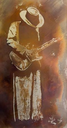 Stevie Ray Vaughan burned into stainless steel Rock And Roll, Pop Rock, Jazz Blues, Blues Music, Stevie Ray Vaughan, Guitar Art, Blues Rock, Blue Art, Music Love