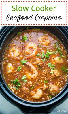 Cioppino Recipe Slow Cooker, Slow Cooker Pasta, Slow Cooker Recipes, Cooking Recipes, Slow Cooking, Crockpot Meals, Cioppino Recipe Easy, Slow Cooker Lasagna, Easy Cooking