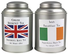 Irish Breakfast Tea & English Breakfast Tea Sampler, World Famous Loose Leaf Breakfast Teas *** Learn more by visiting the image link.