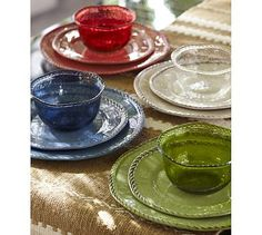 Rope Melamine Outdoor Dinnerware, Set of 4 #potterybarn
