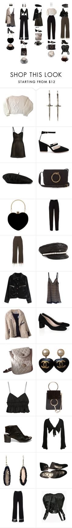 """""""Untitled #1154"""" by jayda-xx ❤ liked on Polyvore featuring Mes Demoiselles..., Pamela Love, Just Cavalli, Gucci, Yves Saint Laurent, Chanel, Isa Arfen, Moschino, UNIF and Miu Miu"""