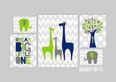 Modern+nursery+art+Navy+Lime+Green+Grey+Nursery+by+babyartprints,+$48.00