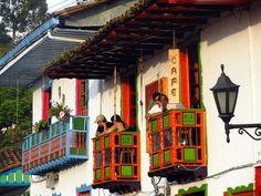 Balcones Típicos en Salento, Quindio