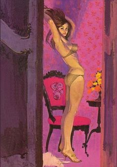 Pulp illustration by Robert McGinnis 1960s