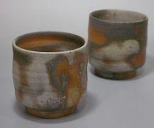 Japanese pottery - Bizen yunomi teacup
