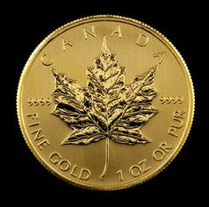 Canadian gold coins, Canadian Maple Leaf gold bullion coins: Canadian Gold Maple Leafs are pure gold bullion coins. Actually, Canadian Gold Maple Leafs Bullion Coins, Gold Bullion, Canadian Gold Coins, Maple Leaf Gold, Canadian Maple Leaf, Gold And Silver Coins, Coin Collecting, Goods And Services, Precious Metals