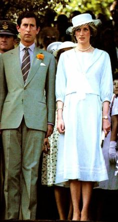 1983-04-07 Diana and Charles attend a Garden Party at Government House, Perth