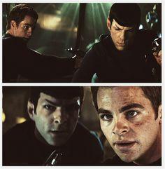 Kirk (Pine) And Spock (Quinto) Star Trek