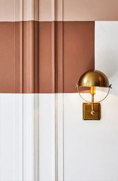Kitchen Interior pink and rust colored paint pairing with brass wall light. / sfgirlbybay - rust is a color i can't say i thought i'd ever be that into but allow me to demonstrate the happier side of rust, errrr -- terracotta. Rust Color Paint, Paint Colours, Color Inspiration, Interior Inspiration, Clay Paint, Interior Paint Colors, Interior Painting, Painting Walls, Painting Tips