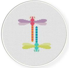 FREE for May 14th 2014 Only - Dragonflies Cross Stitch Pattern