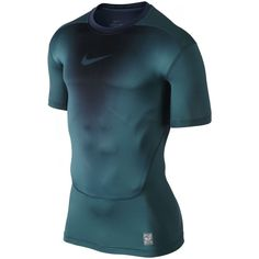 MEN'S NIKE COMPRESSION SHIRT TO BASE LAYER DRI-FIT TEAL / BLACK PRO COMBAT NEW #Nike #ShirtsTops Nike Compression, Nike Pro Combat, Nike Pros, Nike Men, Men's Fashion, Layers, Teal, Base, Fitness