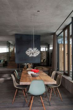 The Best Wood Dining Table Design That Today Trend 13 Dining Table Design, Modern Dining Table, Dining Room Table, Table Lamps, Wood Table, Dining Area, Dining Chairs, Chalet Modern, Table Furniture