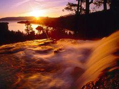 Eagle Creek & Emerald Bay at Sunrise Lake Tahoe California.