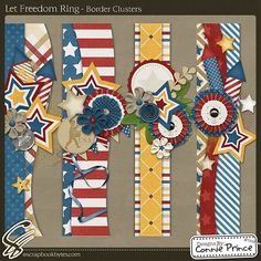 Let Freedom Ring - Border Clusters :: Page Edges :: Embellishments :: SCRAPBOOK-BYTES